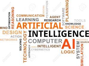 21965461 Una nube de palabras de los art culos relacionados de inteligencia artificial Foto de archivo 300x222 - Tecnología y biociencias: la era de los poshumanos