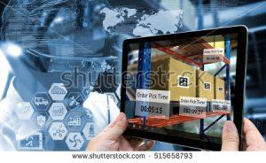 stock photo industry augmented reality and smart logistic concept hand holding tablet with ar application 515658793 1 300x184 - Estos son los beneficios de profundizar la relación entre tecnología y sector financiero