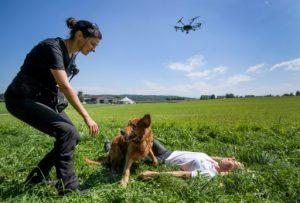adronefliesb 300x203 - Perros y drones, unión clave para salvar vidas en labores de rescate