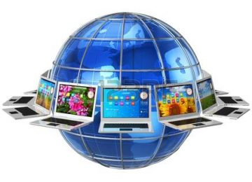 14765884 comunicacion global y el circulo conectividad concepto de computadoras portatiles alrededor de la ti 360x260 - Asfixiar la libertad en internet