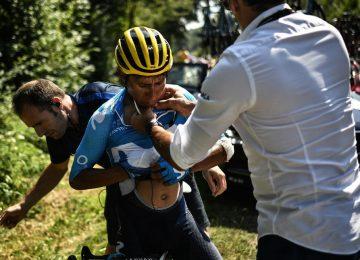 nairo 24 360x260 - Pese a la caída, Nairo Quintana llegó con el lote de favoritos en la etapa 18 del Tour de Francia.