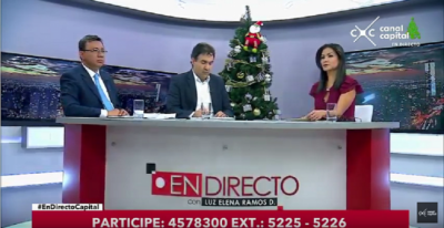 imagen print de pantalla del programa en directo de canal capital - ¡Es la Televisión!