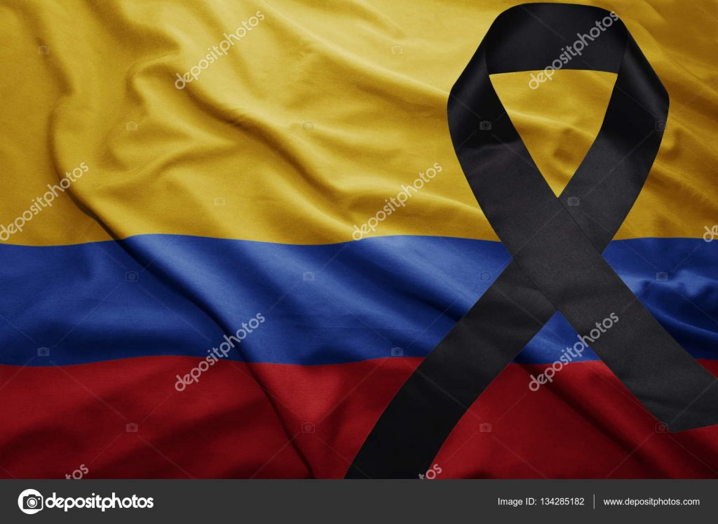 depositphotos 134285182 stock photo flag of colombia with black 1024x747 - Colombia está de luto