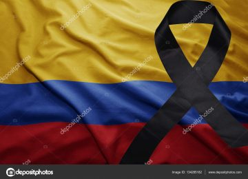 depositphotos 134285182 stock photo flag of colombia with black 360x260 - Colombia está de luto