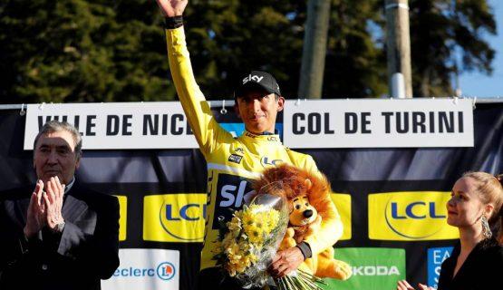 5c8e6d106a843 555x320 - ¡Orgullo colombiano! Egan Bernal, campeón de la París Niza y Nairo es subcampeón