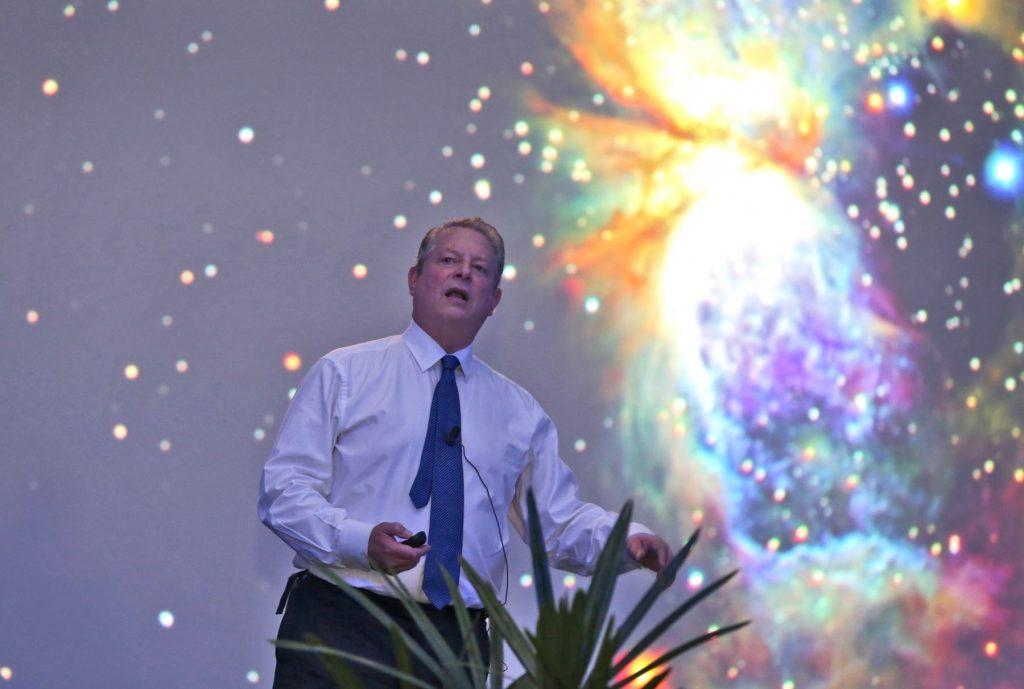 Al Gore 1024x689 - El cambio climático es una verdad incómoda: Al Gore, ex vicepresidente de EE UU//YouTube.//Notimex.