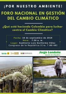 Foro Nacional Cambio Climático FINAL 212x300 - ¿Qué está haciendo Colombia para luchar contra el cambio climático?