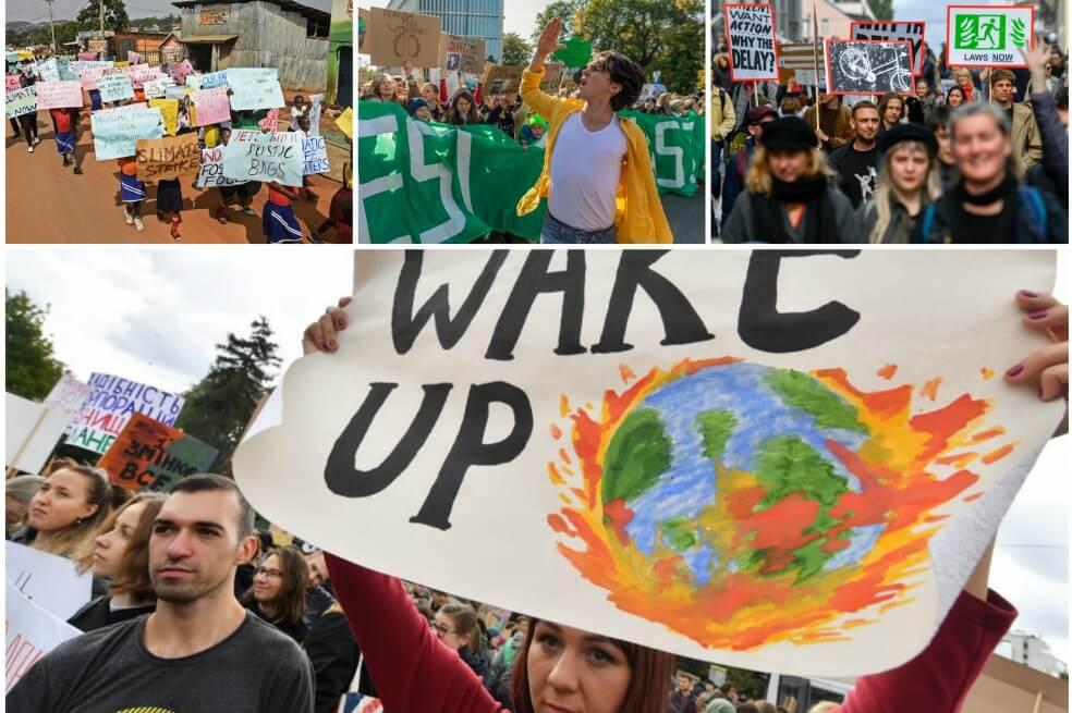 collage1 10 - Comenzó la gran huelga mundial por el clima