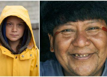 """collage 1 8 360x260 - Greta Thunberg y el indígena Davi Kopenawa reciben el """"Nobel alternativo"""""""