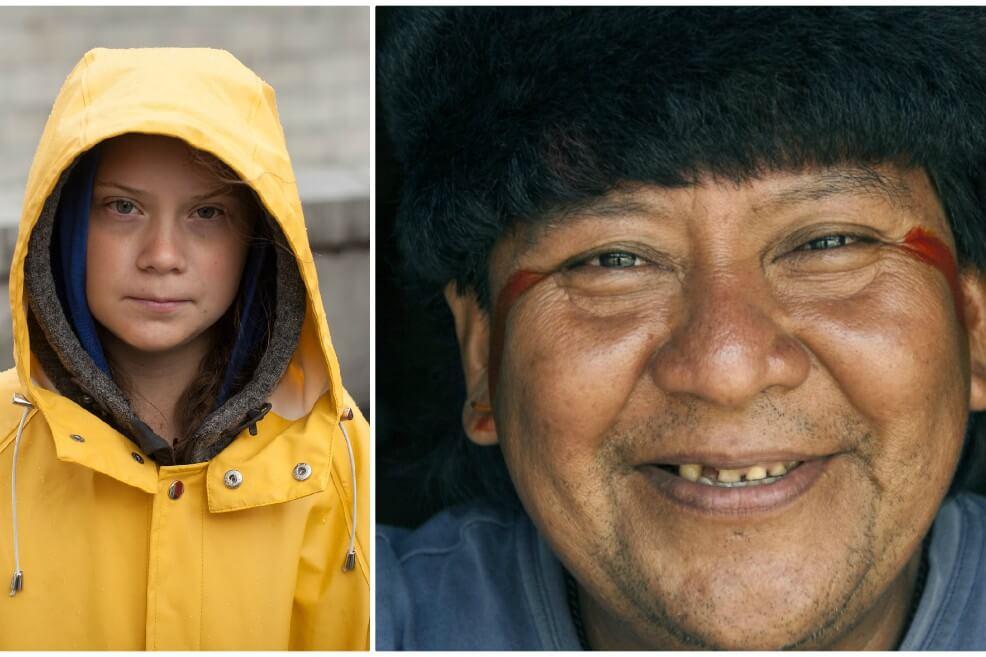 """collage 1 8 - Greta Thunberg y el indígena Davi Kopenawa reciben el """"Nobel alternativo"""""""