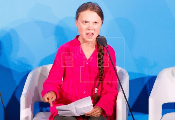"""imagen - Greta Thunberg a los líderes mundiales: """"El cambio viene, les guste o no"""""""