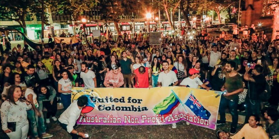 5dd6a9f0a076a - Los colombianos que se unieron al paro nacional en el exterior