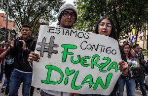 bogota protesta 300x196 - Alcalde Peñalosa se refirió al caso de Dylan Cruz, atacado por el Esmad