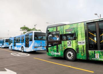 buses 360x260 - Empiezan a rodar los buses eléctricos en Medellín por el corredor de la 80