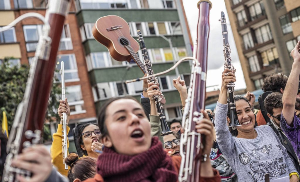 1575339547 024917 1575414637 noticia normal recorte1 1024x623 - Las protestas en Colombia tienen banda sonora