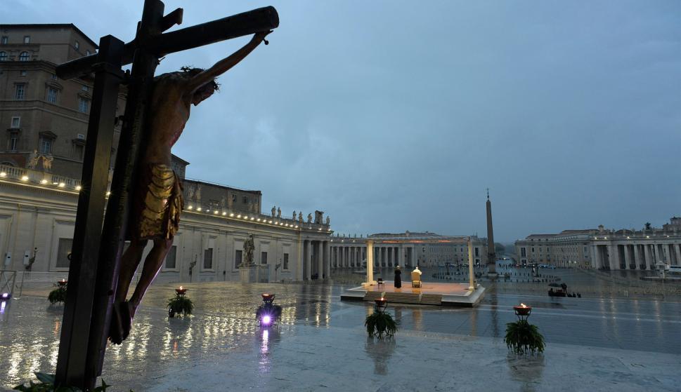 """5e7e40208c15f - """"Estamos todos en la misma barca"""", el mensaje del papa Francisco a todo el mundo"""