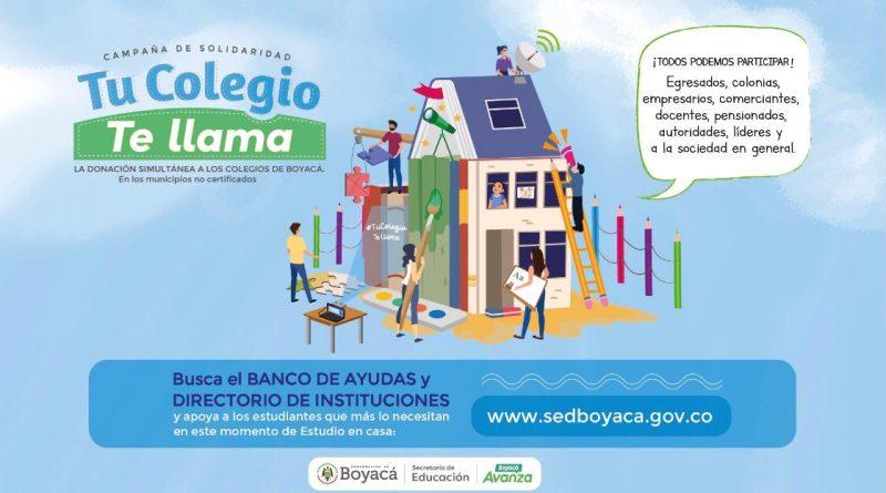 TuColegioTeLlama 800x445 1 - El Corazón de Boyacá puede multiplicar el Milagro de Santiago, y mejorará la Vida de niños y niñas.