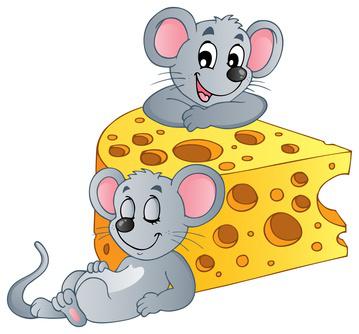 Fábula El ratón y el queso. Imagen fabulas.me  - Los ratones, ¿cuidando el queso?