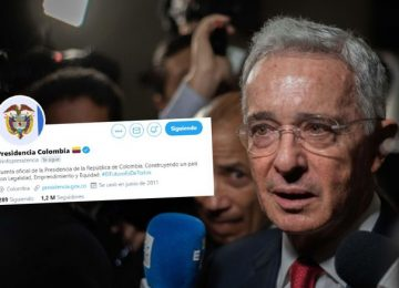 IE3ZH3GNQJCCLJ4XLTQ6YSSTCE 360x260 - Presidencia utilizó sus redes a favor de Uribe, en contra de sus propias directrices