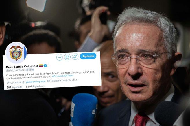 IE3ZH3GNQJCCLJ4XLTQ6YSSTCE - Presidencia utilizó sus redes a favor de Uribe, en contra de sus propias directrices