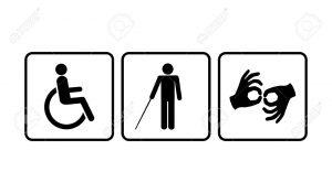 26739325 iconos para minusválidos silla de ruedas ciegos sordos y mudos 300x175 - Empresas de vigilancia y seguridad abrirán convocatoria laboral para personas en situación de discapacidad
