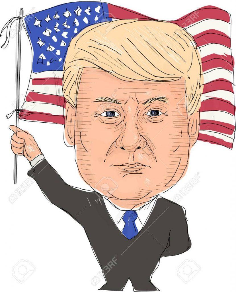 79845665 june 2 2017 watercolor style illustration of donald trump president of the united states of america  829x1024 - La salud de Trump, entre mentiras y una gran puesta en escena