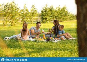 feliz familia tomando un picnic en el parque día soleado 158201767 300x217 - Deje el acelere