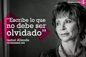2018.08.02 07 SIMPLES COMILLAS Isabel Allende 600x400 1 300x200 - Lección deVida de la pandemia, sin miedo a la muerte: Isabel Allende.