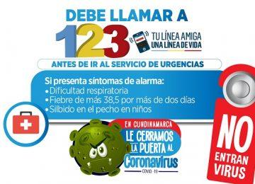SINTOMASYLÍNEA123 360x260 - Balance positivo del auto cuidado y de los controles por Covid en Cundinamarca