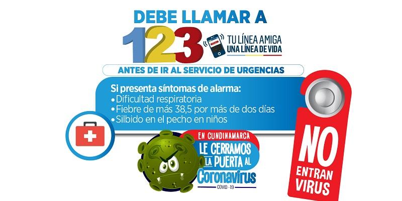 SINTOMASYLÍNEA123 - Balance positivo del auto cuidado y de los controles por Covid en Cundinamarca
