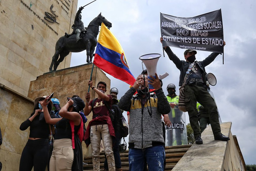 JRCRCL7WT5GQTA6JUIKNNCWPYY - Así avanzó el quinto día de manifestaciones en Colombia