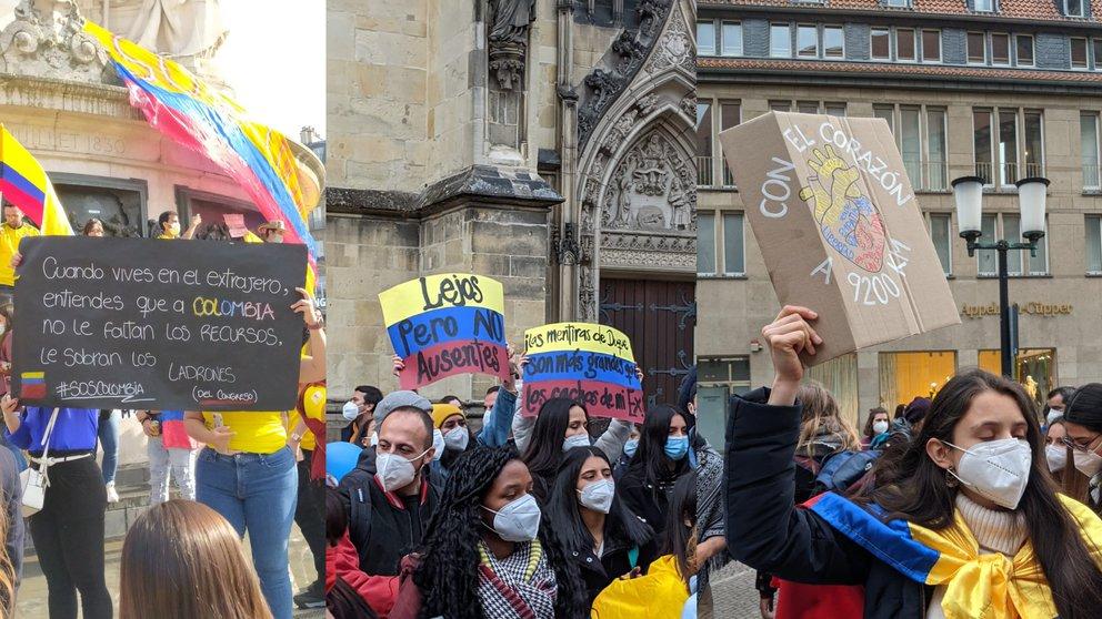 T52MBRQEVND2DATYXZ47IW5H7M - Miles de colombianos en el exterior se unen a las manifestaciones