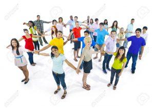 31315929 red de muy diverso grupo de jóvenes de todo el mundo  300x211 - Hoy 12 de agosto es : Día Internacional de la Juventud